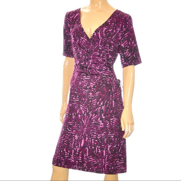 Jones Wear Faux Wrap Dress Size 16